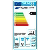 samsung-ww80j6400cweg Energielabel