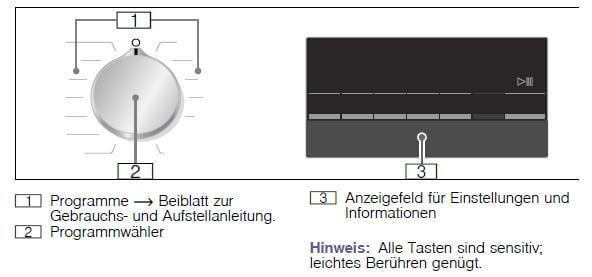 Siemens WM14N120 Bedienfeld