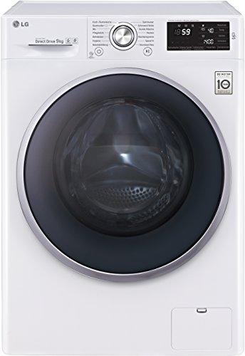 LG Electronics F 14U2 VDN1H Waschmaschine FL / A+++ / 174 kWh/Jahr / 1400 UpM / 9 kg / 9500 L/Jahr / 14 vorprogrammierte Programme / weiß / Smart Diagnosis