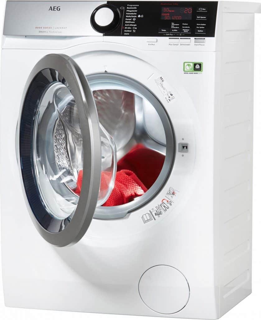 aeg l8fe48okom waschmaschine im test 07 2018. Black Bedroom Furniture Sets. Home Design Ideas