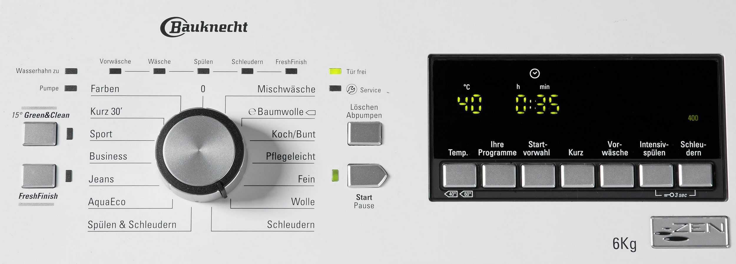 Bauknecht Wat 652 Z Waschmaschine Im Test 022019