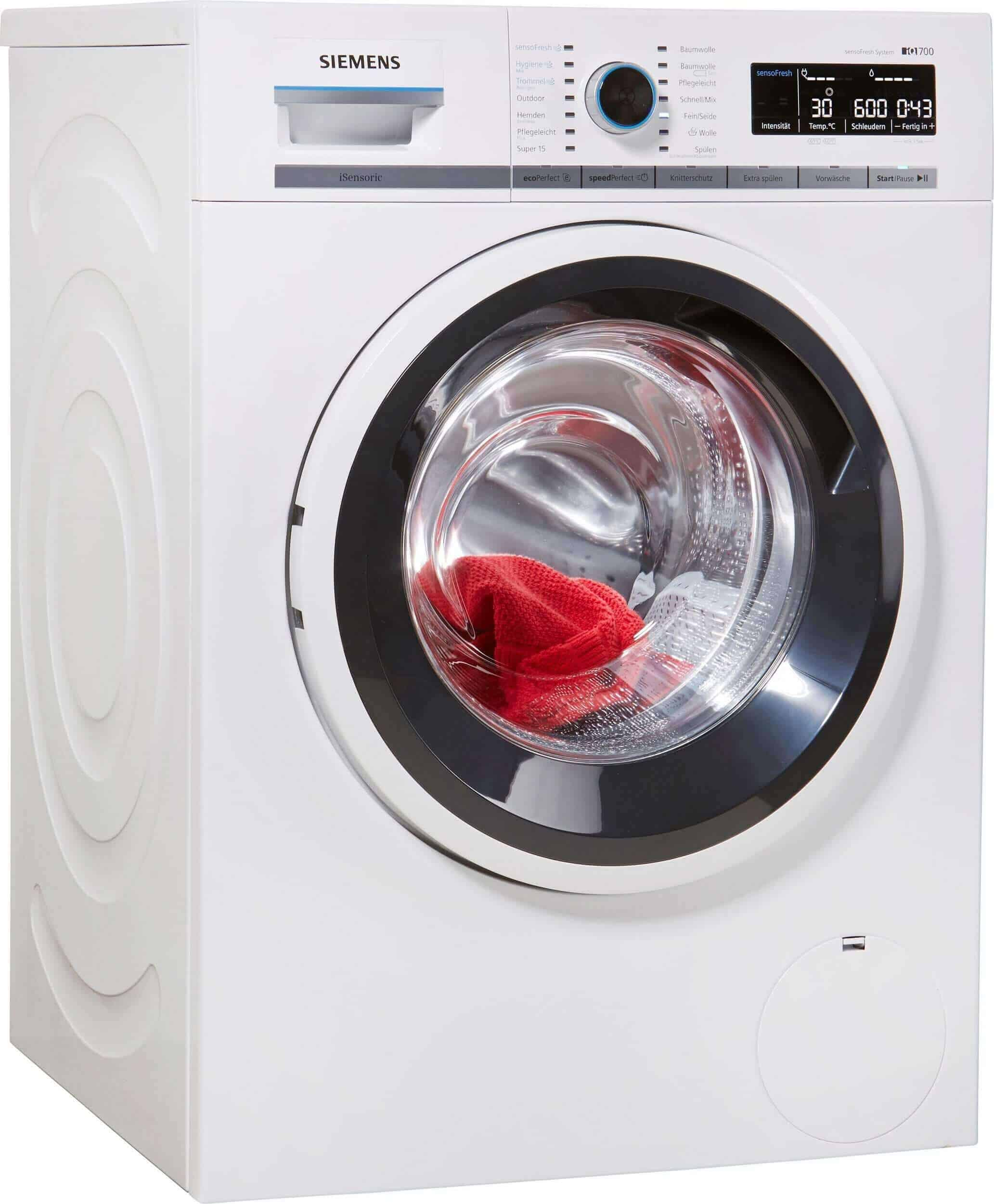 siemens wm14w7eco waschmaschine im test 2017. Black Bedroom Furniture Sets. Home Design Ideas