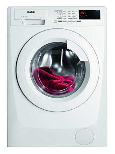 AEG L68480FL Waschmaschine Frontlader / Energieklasse A+++ (190,0 kWh/Jahr) / freistehender Waschautomat mit 8 kg XXL-Trommel und Türöffnung / leise Waschmaschine mit Programmautomatik für beste Effizienz / weiß