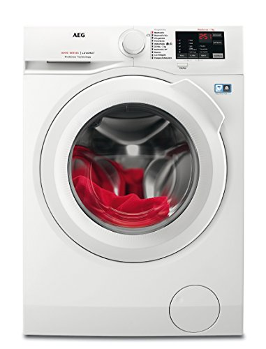 AEG L6FB50470 Waschmaschine Frontlader / Energieklasse A+++ (171,0 kWh/Jahr) / freistehende Waschmaschine mit 7 kg ProTex Schontrommel / sparsamer Waschautomat mit Mengenautomatik / weiß