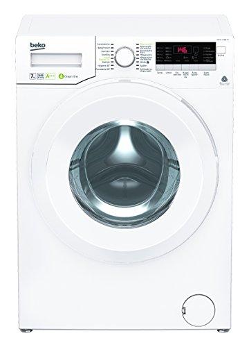 Beko WYA 71483 LE Waschmaschine Frontlader / A+++ / 1400 UpM / 171 kWh/Jahr / 7kg / Weiß / LC-Display / Mengenautomatik / Aquastop / Watersafe+ / Aquawave Schontrommel / besonders leise / Kindersicherung / ProSmart Inverter Motor / BabyProtect