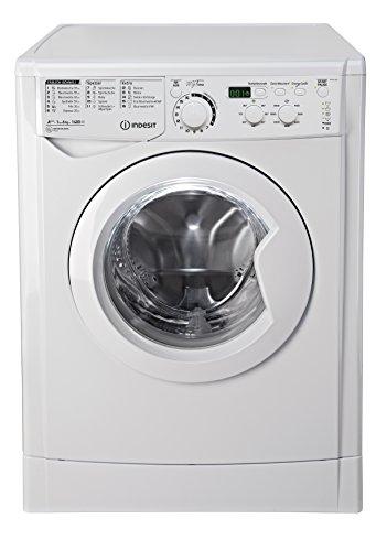 Indesit EWD 61483 W DE Waschmaschine FL / 153 kWh / 1400 UpM / 6 kg / 8643 Liter / MyTime, Schneller als 1 Stunde / Inverter-Motor / leise nur 54 db / Wasserstopp / weiß