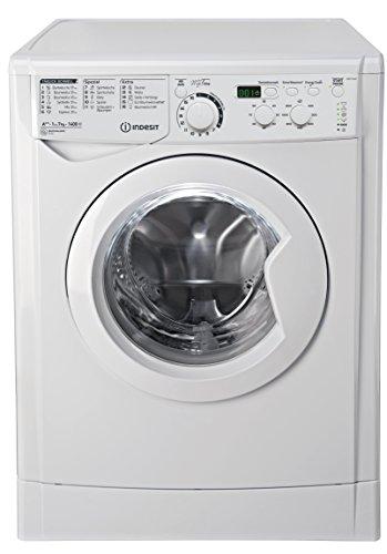 Indesit EWD 71483 W DE Waschmaschine FL / 174 kWh / 1400 UpM / 7 kg / 10840 Liter / MyTime, Schneller als 1 Stunde / Inverter-Motor / leise nur 54 db / Wasserstopp / weiß