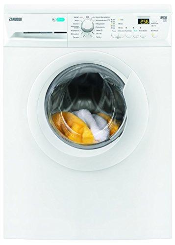 Zanussi ZWF81443W Waschmaschine FL / A+++ / 190 kWh/ Jahr / 1400 UpM / 8 kg / 9999 L/ Jahr / GentleCare Trommel / LC-Display / weiß