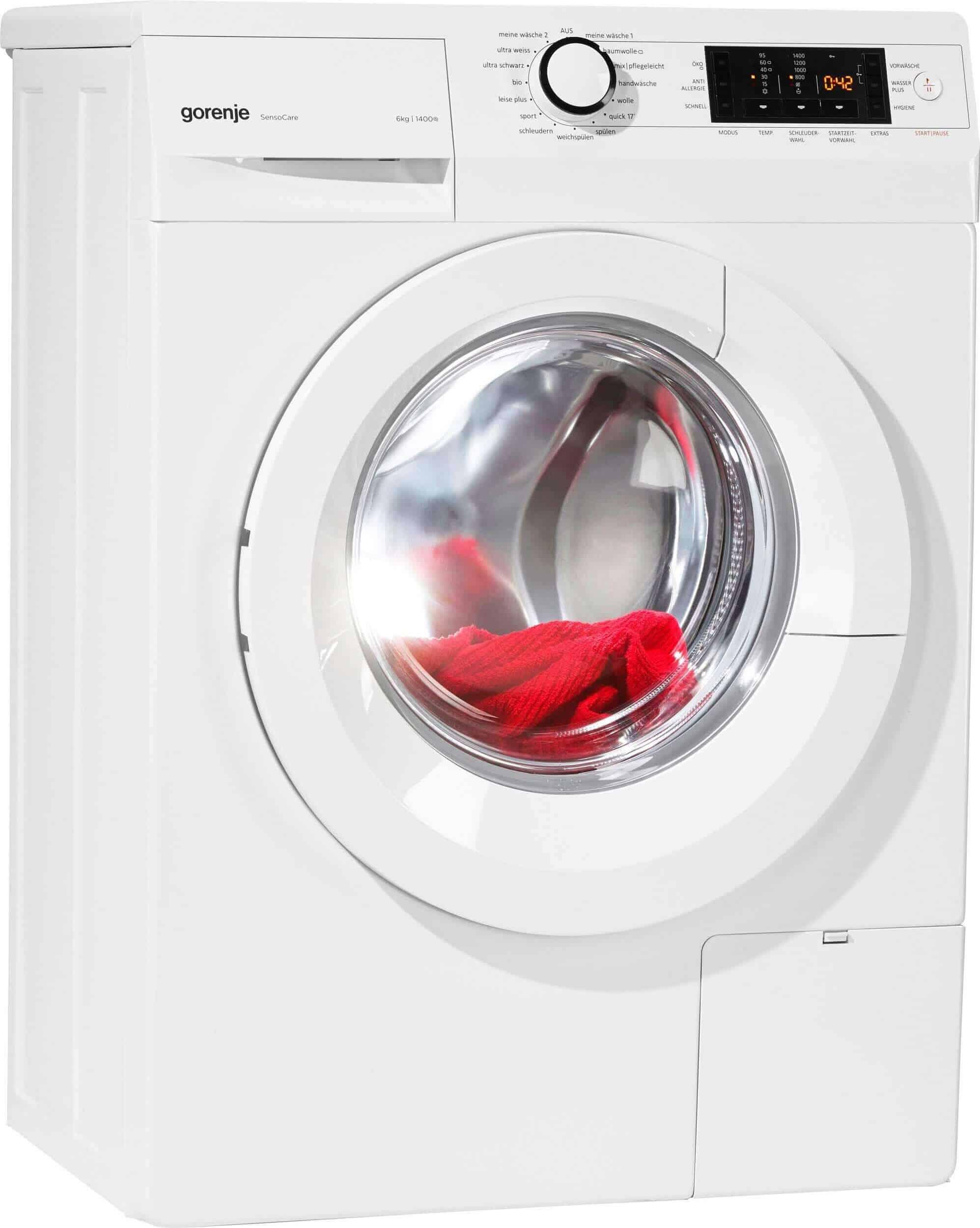 gorenje w 6443 s slim line waschmaschine im test 02 2019. Black Bedroom Furniture Sets. Home Design Ideas