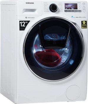 Samsung Ww 12 K 8402 Ow Eg Moderne Waschmaschine mit Nachlegefunktion
