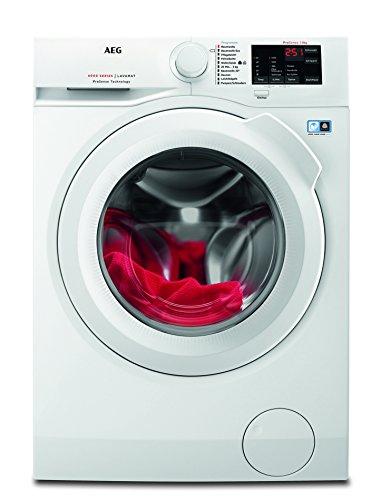 AEG L6FB54480 Waschmaschine Frontlader / Waschautomat mit Mengenautomatik / schonende und effiziente Reinigung / freistehende Waschmaschine mit 7 kg Schontrommel und XXL-Türöffnung / Energieklasse A+++ (156 kWh/Jahr) / weiß