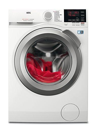 AEG LAVAMAT L6FB67490 Waschmaschine / A+++ / 1400 UpM / Mengenautomatik / Startzeitvorwahl / weiß / Frontlader