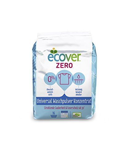 Ecover Zero Waschpulver Sensitive Universal, 4er Pack (4 x 16 WL)