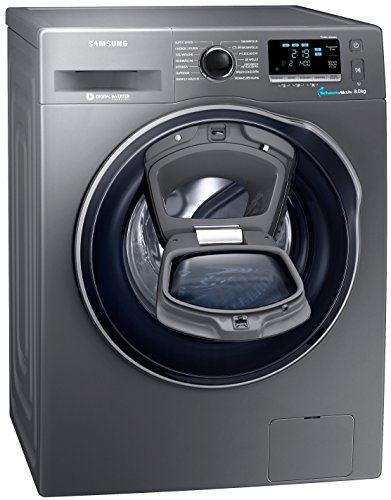 Samsung WW80K6404QX/EG Waschmaschine FL / A+++ / 116 kWh / Jahr / 1400 UpM / 8 kg / Add Wash / WiFi Smart Control / Super Speed Wash / Digital Inverter Motor / anthrazit