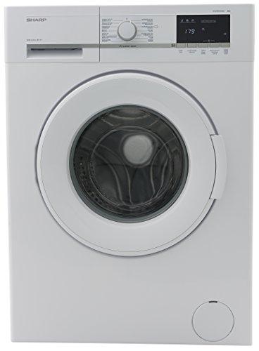 Sharp ES-GFB8143W3-DE Waschmaschine / 8kg / A+++/ 1400UpM/ Schnellwaschgang 15 min/ Aqua Stop/ weiß / Allergy Smart / Wellenform-Gehäuse / Bubble Drum / Unwuchtkontrolle / Schaumschutz / LED-Anzeige / Eco-Funktion