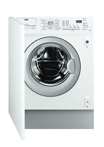 AEG L61470BI Waschmaschine Frontlader / Energieklasse A+++ (190,0 kWh/Jahr) / vollintegrierbare Waschmaschine mit 7 kg Trommel / sparsamer Waschautomat mit großer Programmauswahl / weiß