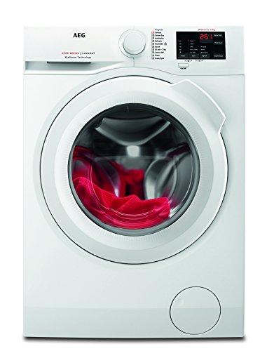 AEG L6FB54680 Waschmaschine Frontlader / 8 kg / 1600 U/min / Energieklasse A+++ (156 kWh/Jahr) / Schutz für edle Textilien dank ProTex Schontrommel / energieeffizienter Waschautomat mit Mengenautomatik / weiß