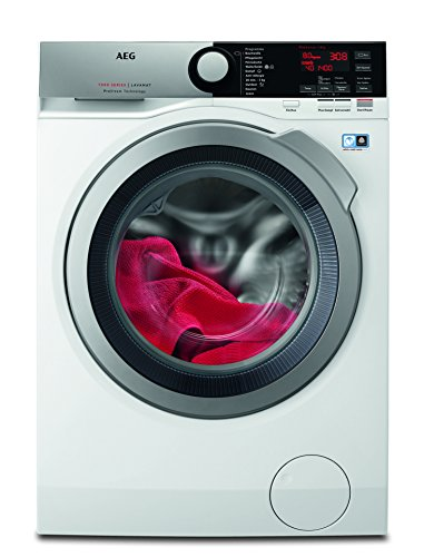 AEG L7FE76684 Waschmaschine Frontlader / sparsamer Waschautomat mit Mengenautomatik / Energieklasse A+++ (177 kWh/Jahr) / Waschmaschine mit 8 kg ProTex-Trommel und Dampfprogramm für empfindliche Textilien / weiß [Energieklasse A+++]