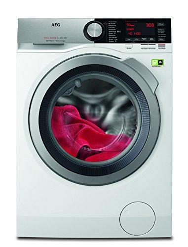AEG L9FE86495 Frontlader Waschmaschine / Energieklasse A+++ (65 kWh/Jahr) / 9 kg / kein Verblassen / Waschmaschine mit Mengenautomatik, Knitterschutz und Ionentauscher / Waschautomat / weiß