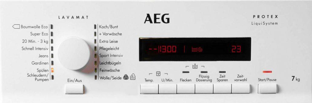 AEG L72270tl Bedienelement
