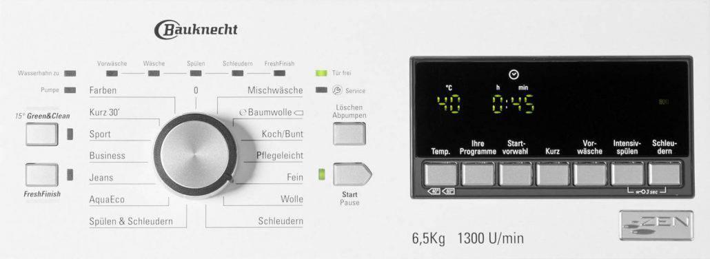 Bauknecht Toplader WAT 6513 DD Bedienelement