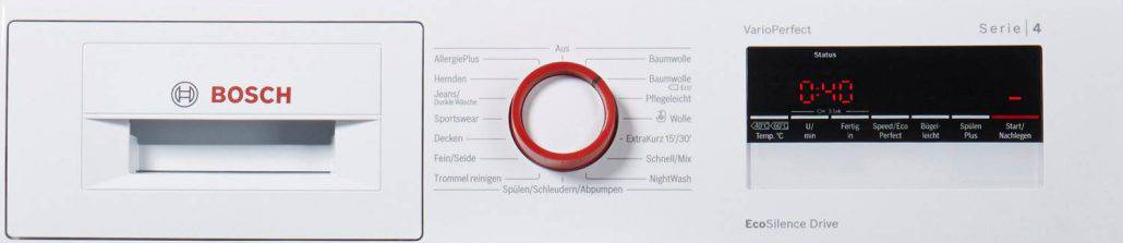 Bosch Doreen Wan282v8 Bedienelement