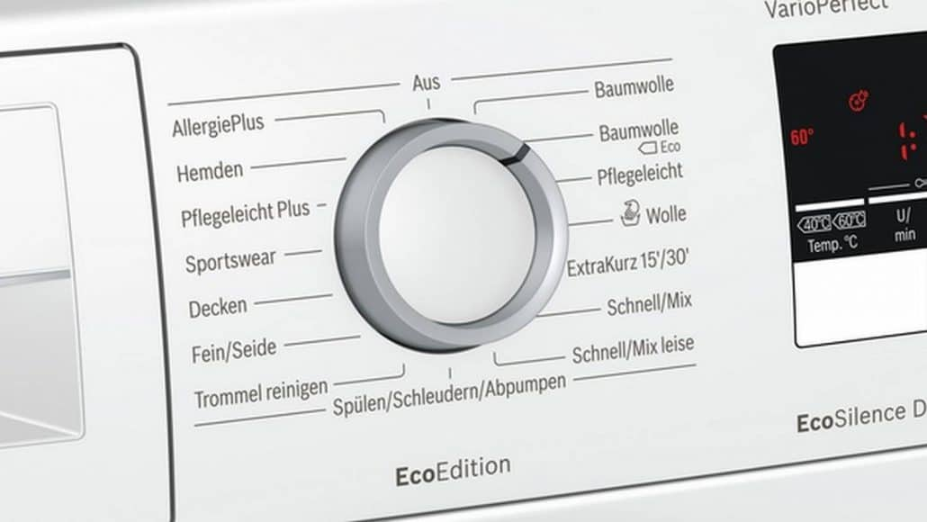 Bosch Wan282eco2 Bedienelement