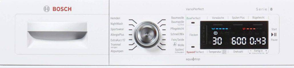 Bosch Waw28570 Bedienelement