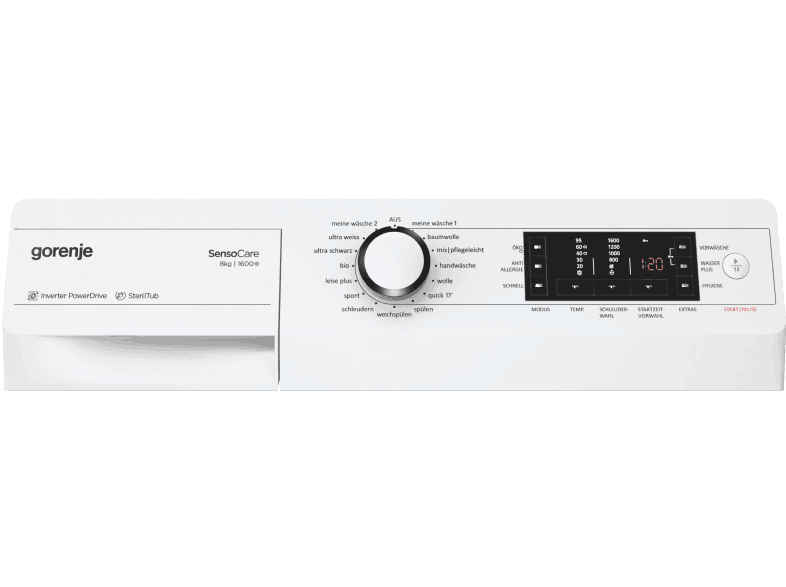 Gorenje W 8.6 Eco Bedienelement
