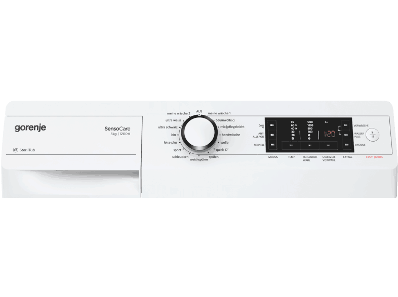 Gorenje W5523 S Bedienelement