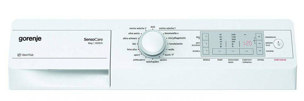 Gorenje Wa6840 Bedienelement
