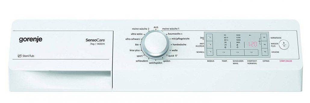 Gorenje Wa7840 Bedienelement