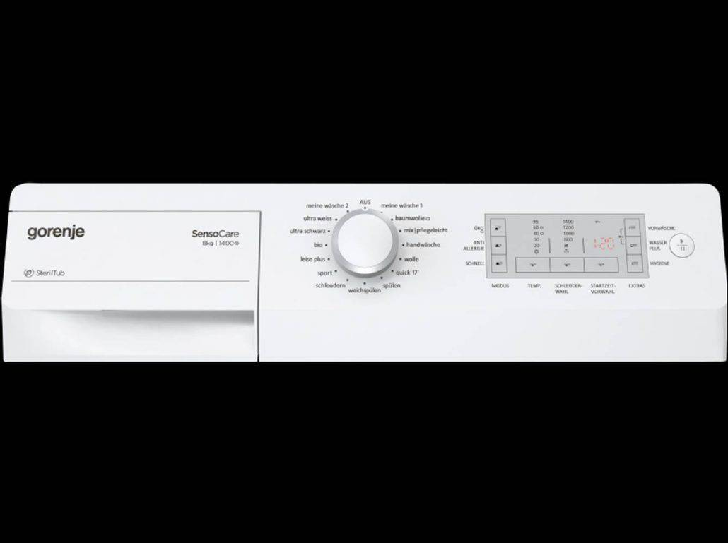 Gorenje Wa8840 Bedienelement