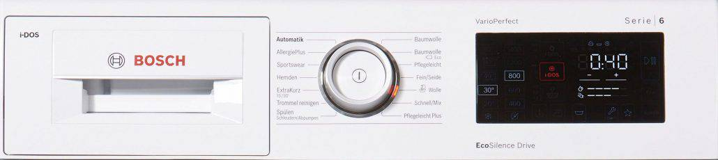 Bosch wat286v0 Bedienelement