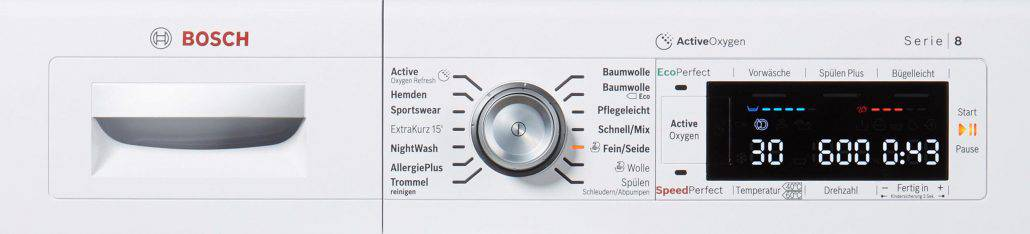 Bosch waw287v0 Bedienelement