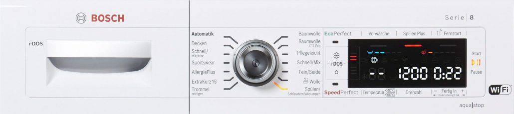 Bosch wawh8640 Bedienelement