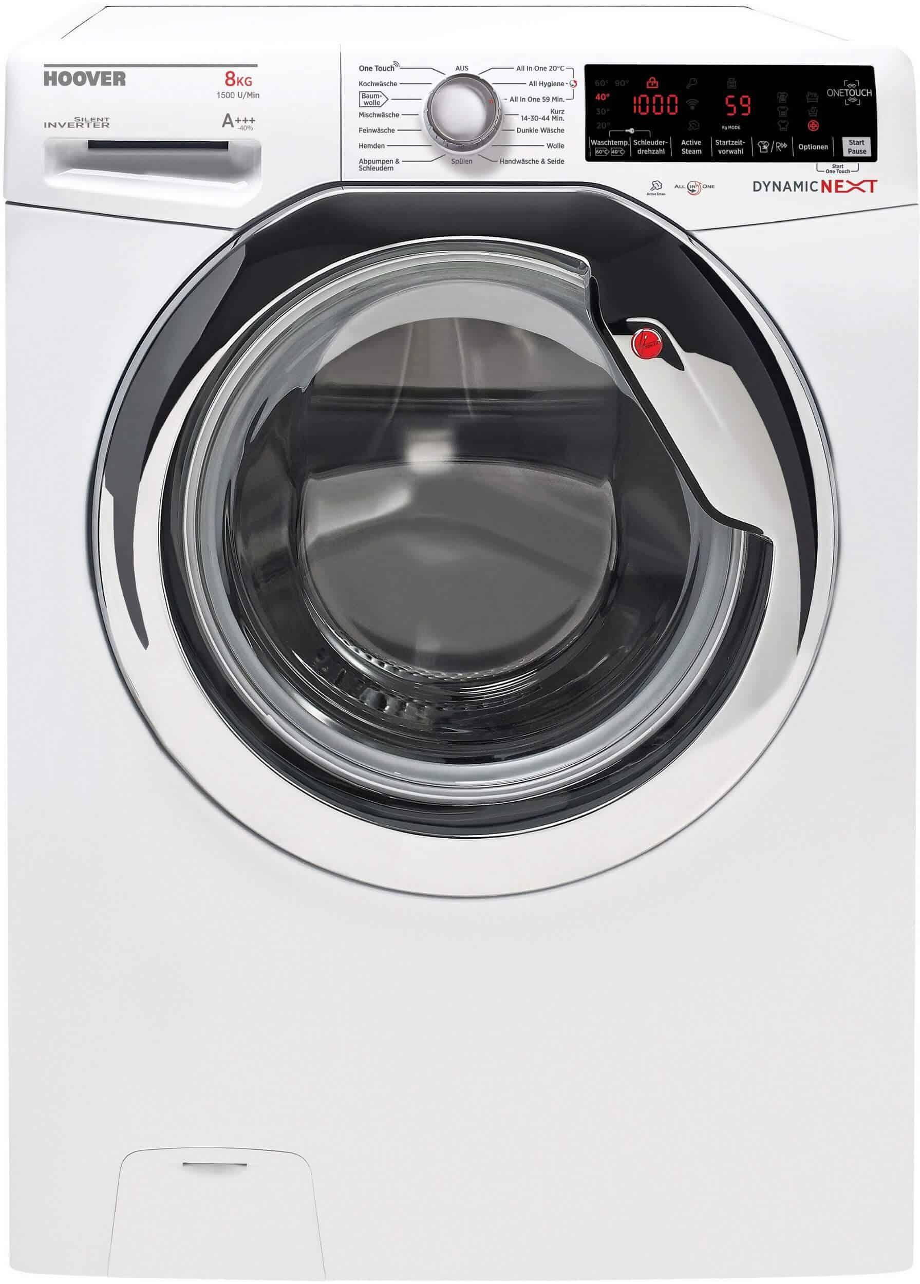 hoover dxoa g58ahc3 84 waschmaschine im test 2018. Black Bedroom Furniture Sets. Home Design Ideas
