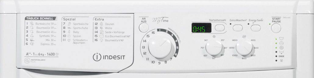Indesit ewd 61482 w de Bedienelement