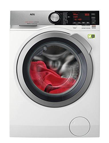 AEG LJUBILINE6 Waschmaschine Frontlader / 8 kg XXL ProTex Schontrommel / Energieklasse A+++ (97 kWh/Jahr) / Mengenautomatik / Waschautomat mit Dampfprogramm für Hemden und Blusen / weiß