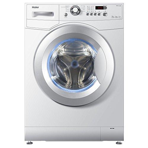 Haier HW70-1479N Waschmaschine FL / A+++ / 170 kWh/Jahr / 1400 UpM / 7 kg / blaue Anti-Bakterielle Türmanschette und Waschmittelschublade / weiß