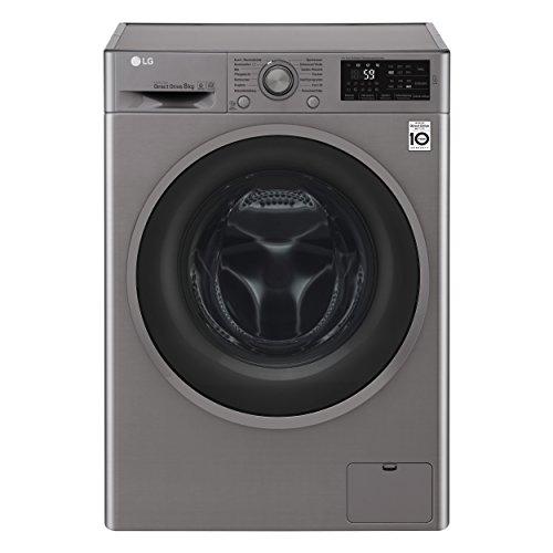LG Electronics F 14WM 8TN4 Waschmaschine Frontlader/A+++/132 kWh/Jahr/1400 UpM/8 kg/silber/Inverter Direct Drive