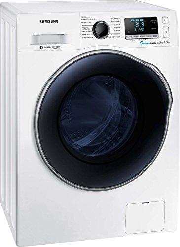 Samsung WD6000 WD80J6A00AW/EG Waschtrockner/a/17600 kWh/Jahr/1400 UpM/8 kg/9600 L/jahr/SchaumAktiv/SuperSpeed-Wash/Weiß