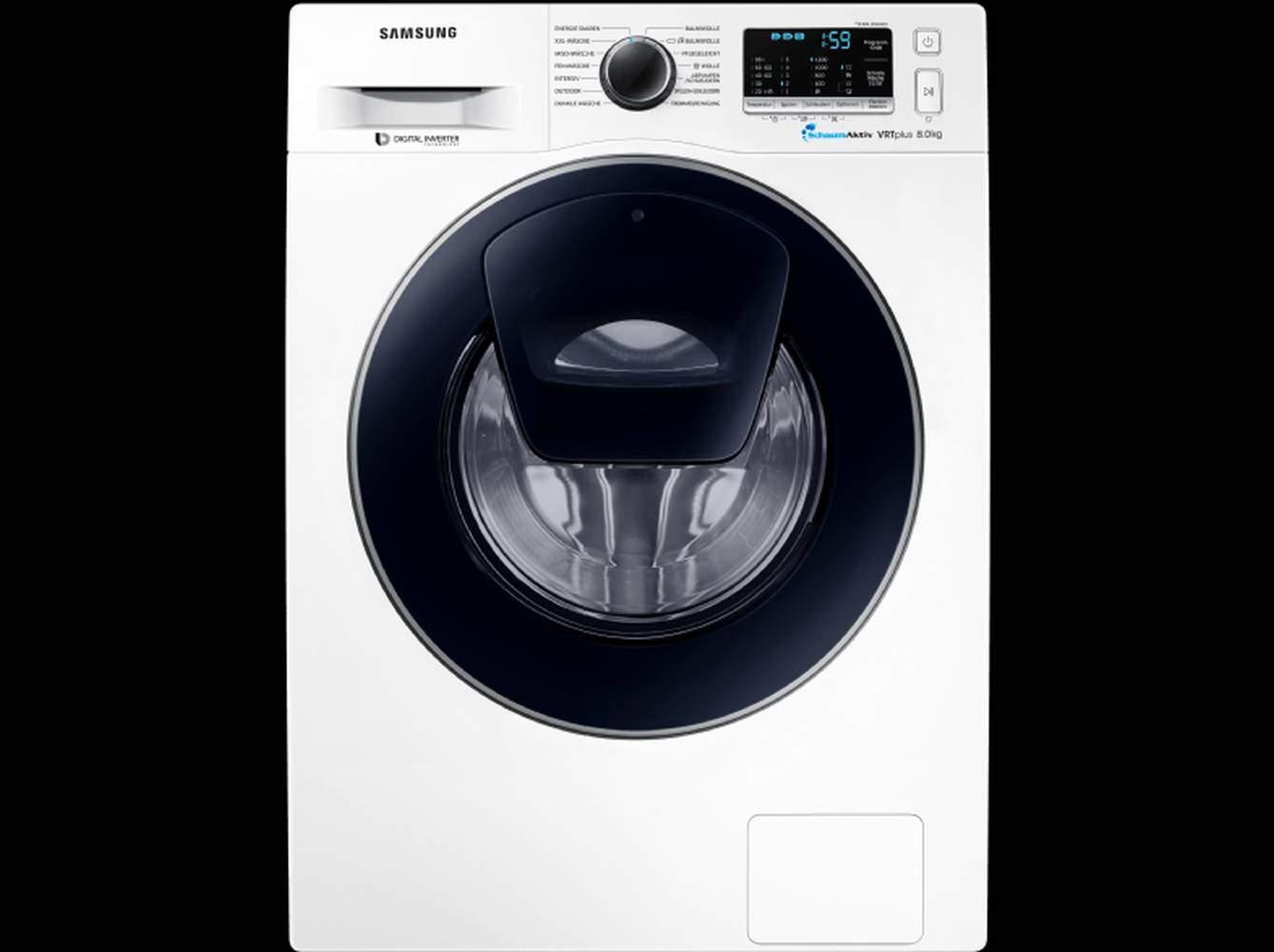 samsung ww 80 k 52 a0vw eg waschmaschine im test 07 2018. Black Bedroom Furniture Sets. Home Design Ideas