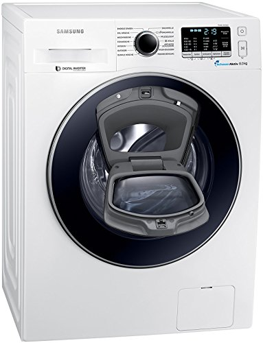 Samsung WW8EK5400UW/EG AddWash Waschmaschine FL/A+++ / 116 kWh/Jahr / 1400 UpM / 8 kg/Weiß / Add Wash/Smart Check/Digital Inverter Motor