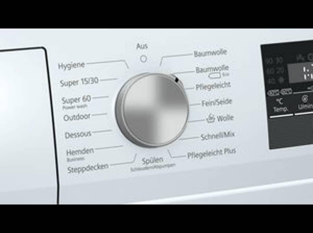 Siemens wm14n121 Bedienelement