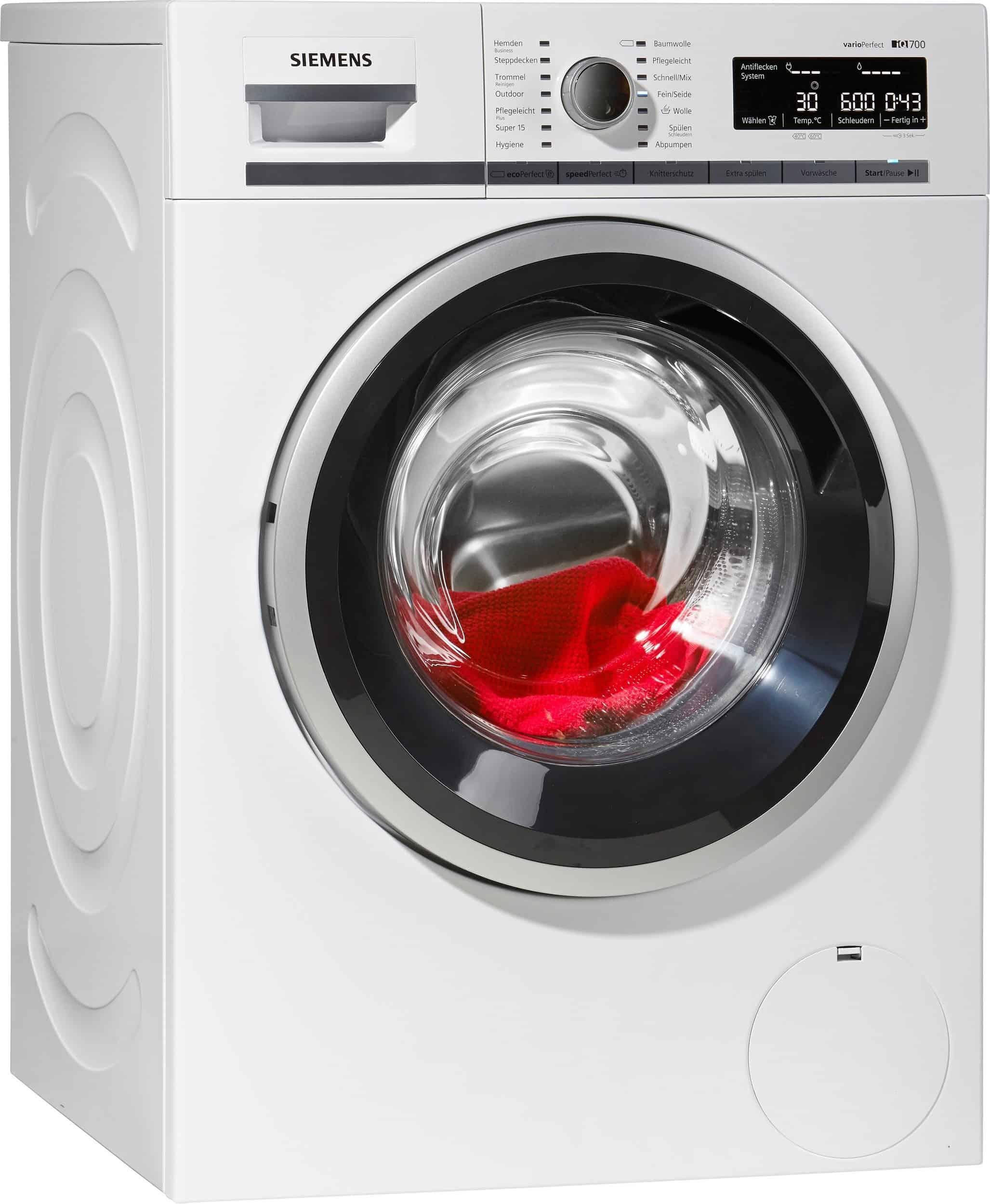 siemens wm14w540 waschmaschine im test 07 2018. Black Bedroom Furniture Sets. Home Design Ideas
