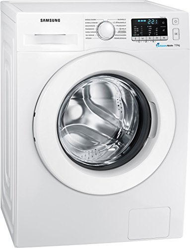Samsung WW70J5585MW/EG Waschmaschine Frontlader/7kg/Automatikprogramme/SchaumAktiv-Technologie/FleckenIntensiv/85 cm Höhe/Aquastop
