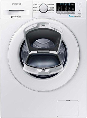 Samsung WW80K5400WW/EG Waschmaschine FL/A+++/116 kWh/Jahr/1400 UpM/8 kg/Weiß/Add Wash/Smart Check/Digital Inverter Motor