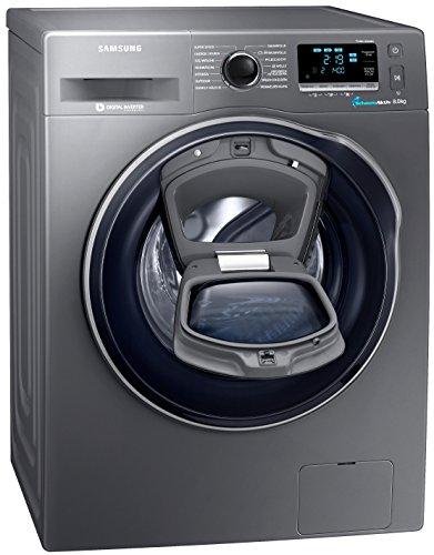 Samsung WW80K6404QX/EG Waschmaschine FL/A+++/116 kWh/Jahr/1400 UpM/8 kg/Add Wash/WiFi Smart Control/Super Speed Wash/Digital Inverter Motor/anthrazit