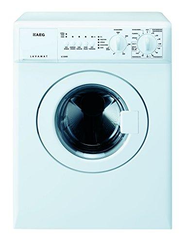 AEG LC53500 Waschmaschine Frontlader/Kompaktwaschmaschine mit 3 kg Trommel/kleiner Waschautomat mit Startzeitvorwahl/Energieklasse A+++ (126 kWh/Jahr)/Programme für Wolle und Zeitsparen/weiß